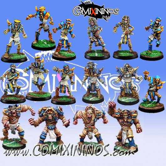 Egyptian Tomb Kings - Classic Team of 16 Players - Willy Miniatures