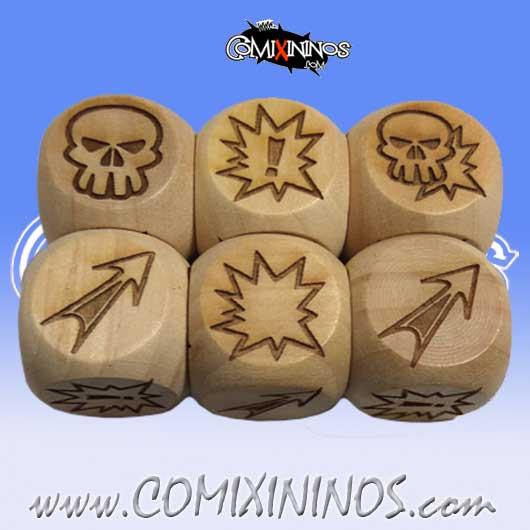 Set of 3 Meiko Block Dice Large Size 20 mm - Wooden
