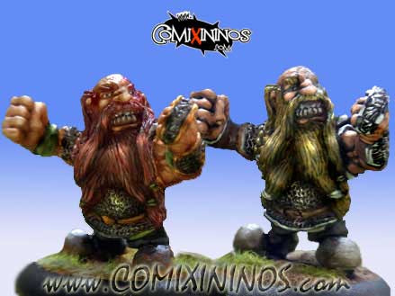 Dwarves - Set of 2 Veteran Dwarves - Mano di Porco