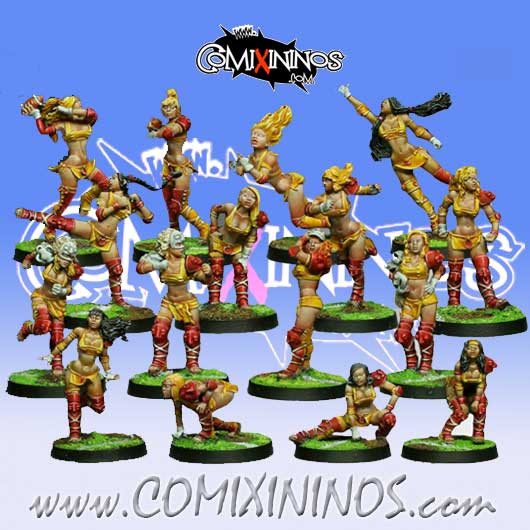 Amazons - Complete Team of 16 Players - Willy Miniatures