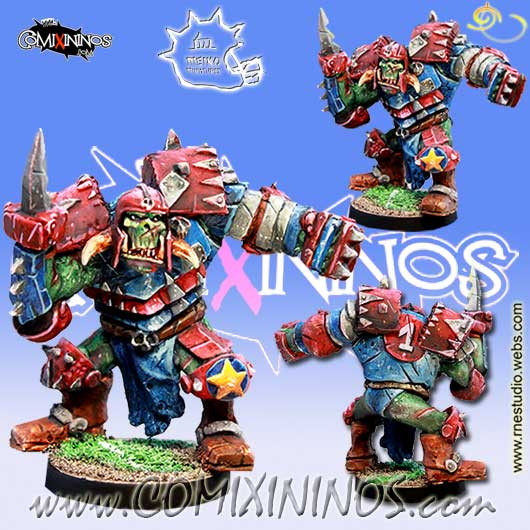 Orcs - Barack Orc Star Player - Meiko Miniatures