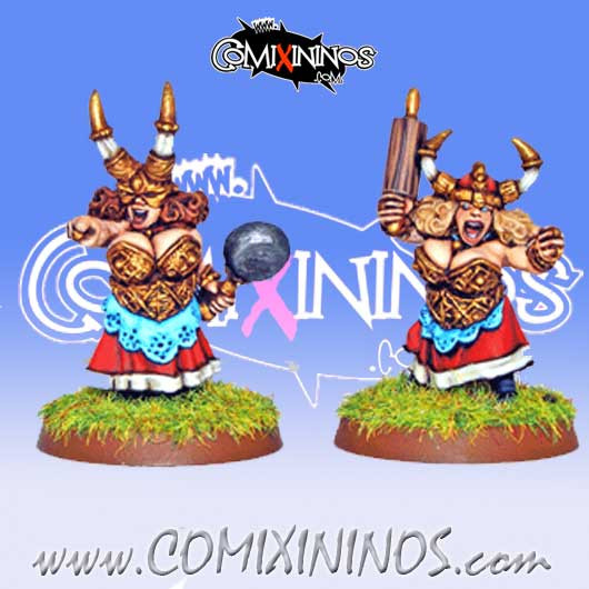 Dwarves - Iron Maidens Dwarf Ladies Blitzers Set of 2 – Warlord Games