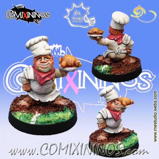 Halflings - Halfling Chef without Cauldron - Meiko Miniatures