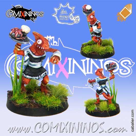 Lizardmen - Baby Lizard Bloodweiser Girl - Meiko Miniatures