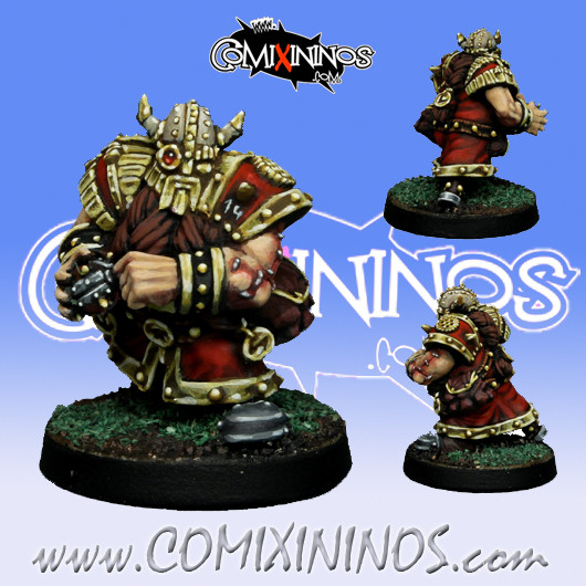 Dwarves - Dwarf Bombardier Star Player - SP Miniaturas