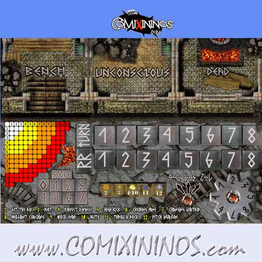 Evil Dwarves Plastic Dugout with 3 Sections - Comixininos