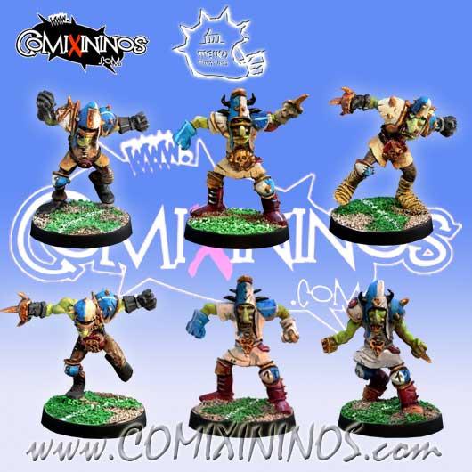Evil Dwarves - Set of 6 Hobgoblins - Meiko Miniatures
