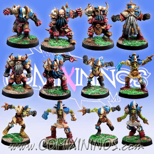 Evil Dwarves - Evil Dwarf Team of 12 Players - Meiko Miniatures
