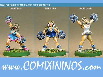Humans - Classic Human Cheerleaders Set of 3 - Shadowforge