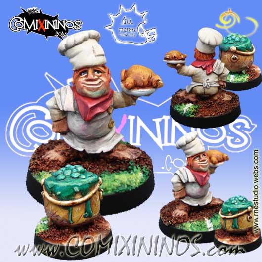 Halflings - Halfling Chef with Cauldron - Meiko Miniatures