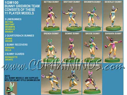 Amazons / Humans - Bunny Female Team of 11 Players - Shadowforge