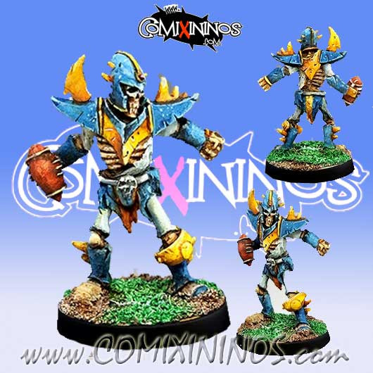 Undead - Dark Elf Skeleton Star Player J. Erlitz - Willy Miniatures