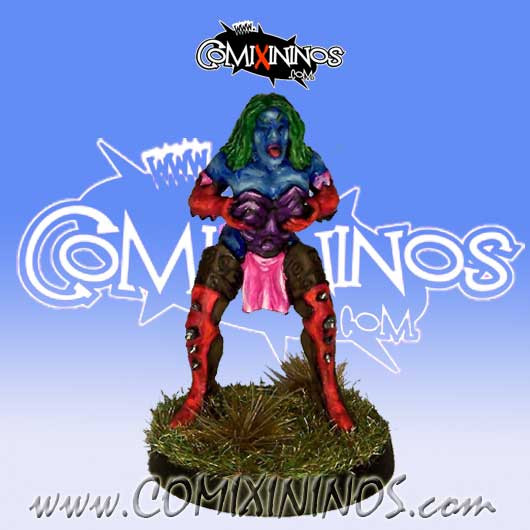 Dark Elves - Dark Elf Witch nº 1 - Uscarl Miniatures