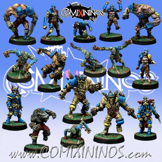Undead / Necromantic - Team Dead XXL of 16 Players - Willy Miniatures