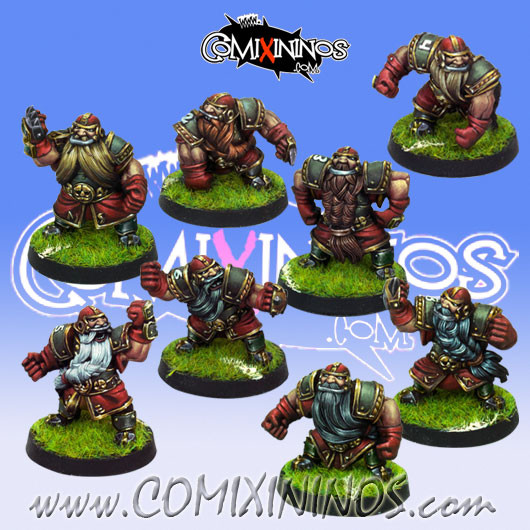 Dwarves - Set of 8 Dwarf Blockers - Willy Miniatures