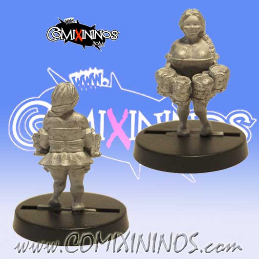 Dwarves - Dwarf Bloodweiser Girl - SP Miniaturas