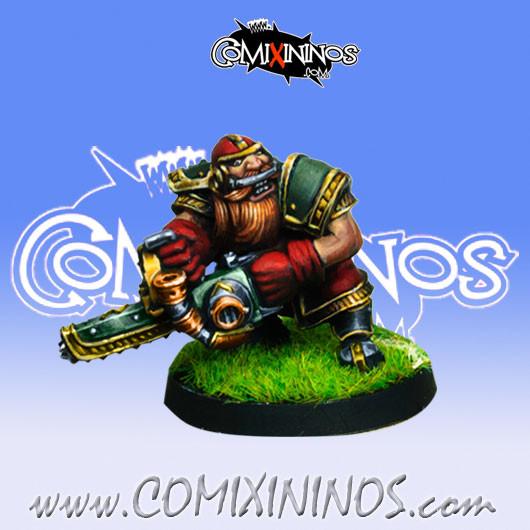 Dwarves - Dwarf Chainsaw Star Player - Willy Miniatures