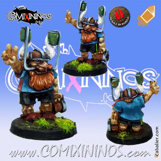 Dwarves - Dwarf Fan with Beer Helmet - Mano di Porco