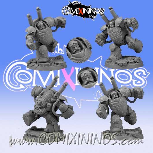 Dwarves - Dwarf Player Heavy Steam Armour Steamroller - Scibor Miniatures