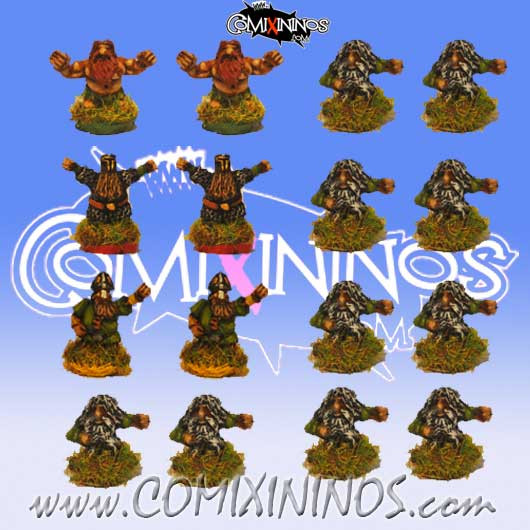 Magnetic Dwarf Team of 16 Players for Mini-BB