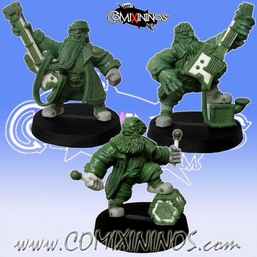 Dwarves - ZZ Block Dwarf Band - Willy Miniatures