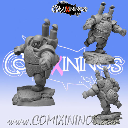 Dwarves - Steam Dwarf Player nº 3 Blocker - Scibor Miniatures