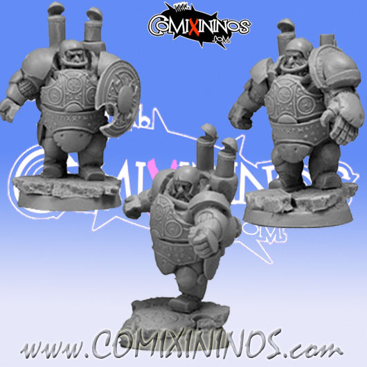 Dwarves - Set of 3 Steam Dwarf Players Blockers - Scibor Miniatures