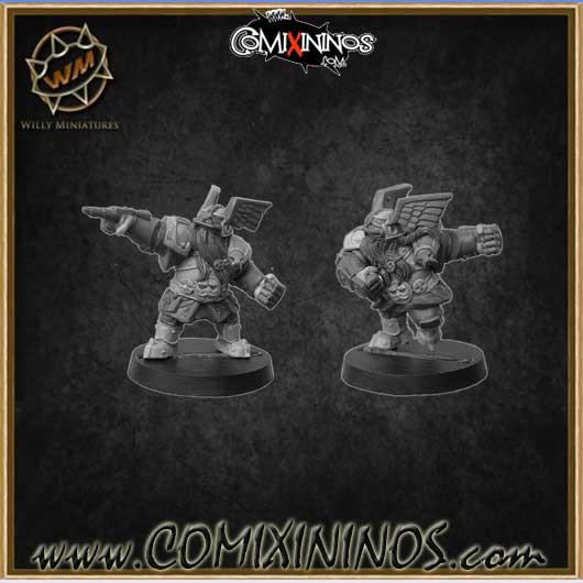 Dwarves - Set of 2 Dwarf Blitzers - Willy Miniatures