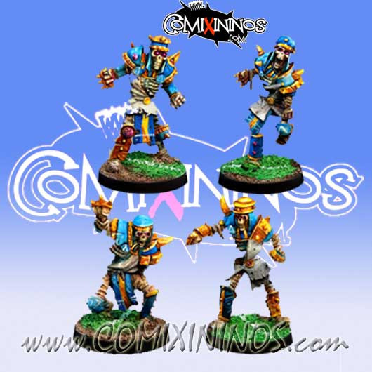 Egyptian Tomb Kings - Set B of 4 Skeletons - Willy Miniatures