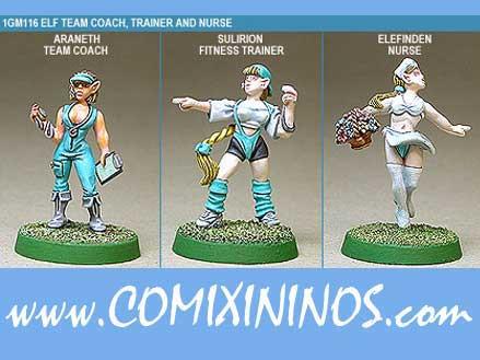 Elves - Elf Coach Trainer Nurse  Set of 3 - Shadowforge