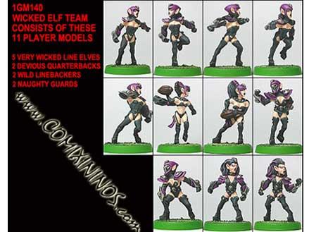 Dark Elves - Female Dark Elf Team of 11 Players - Shadowforge