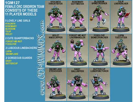 Orcs - Female Orc Team of 11 Players - Shadowforge