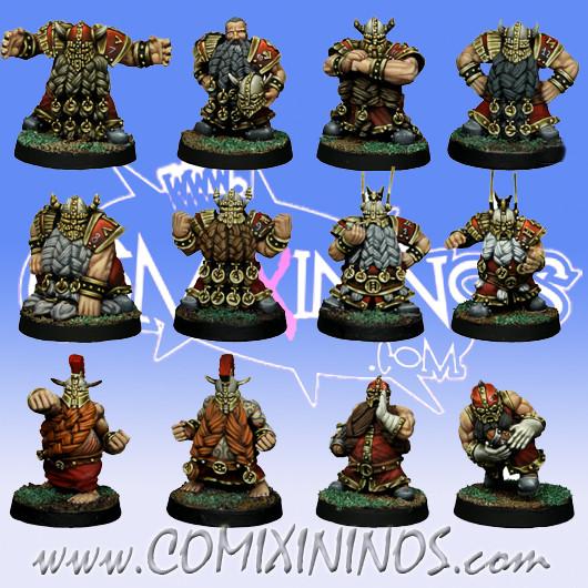 Dwarves - Basic Dwarf Team of 12 Players - SP Miniaturas