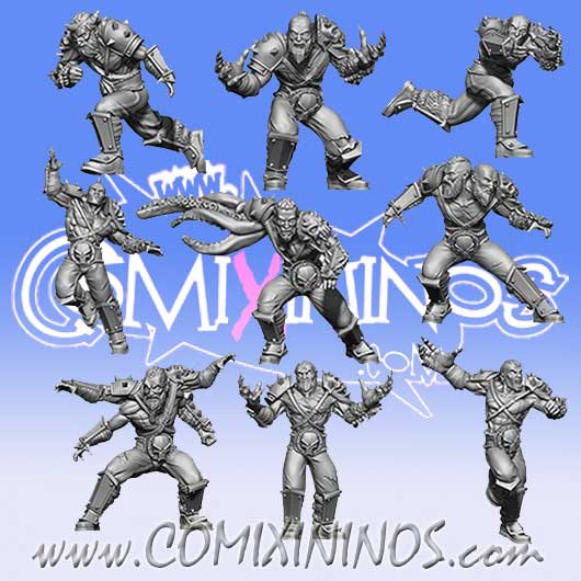 Evil Pact - Set of 9 Marauders - SP Miniaturas