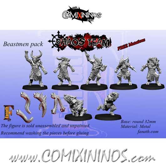 Evil - Set of 7 Beastmen - Fanath Art