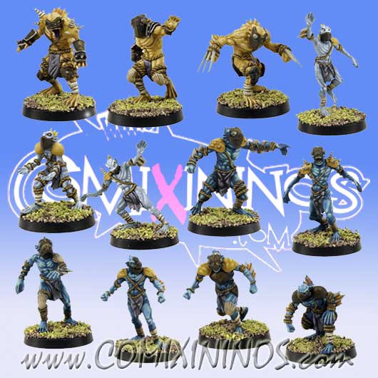 Frogmen - Deep Ones Frogmen Team of 12 Players - SP Miniaturas