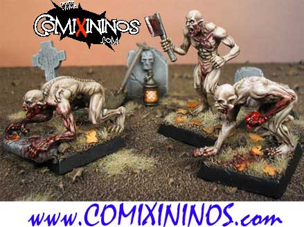 Undead / Necromantic - Set of 3 Ghouls - Heresy