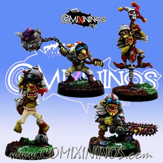 Goblins - Set of 4 Classic Goblins with Secret Weapons - Willy Miniatures