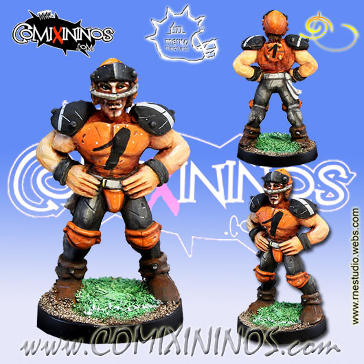 Humans - Human Lineman nº 1 - Meiko Miniatures