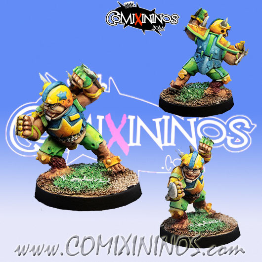 Halflings - Ultimate Poggy Halfling Star Player - Willy Miniatures