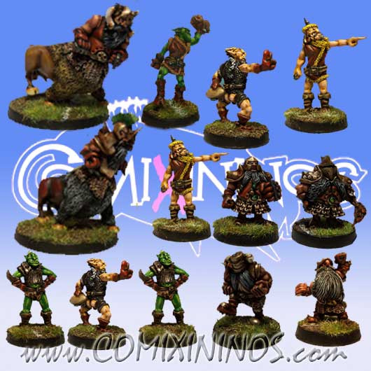 Evil Dwarves - Team of 13 Players without Minotaur - Uscarl Miniatures