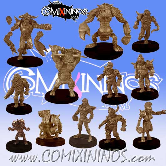 Evil Pact - Team of 12 Players with 3 Big Guys - Uscarl Miniatures