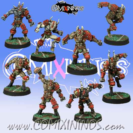 Evil - Set of 8 Beastmen - Meiko Miniatures