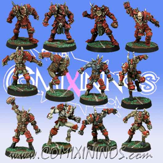 Evil - Team of 12 Players without Minotaur - Meiko Miniatures