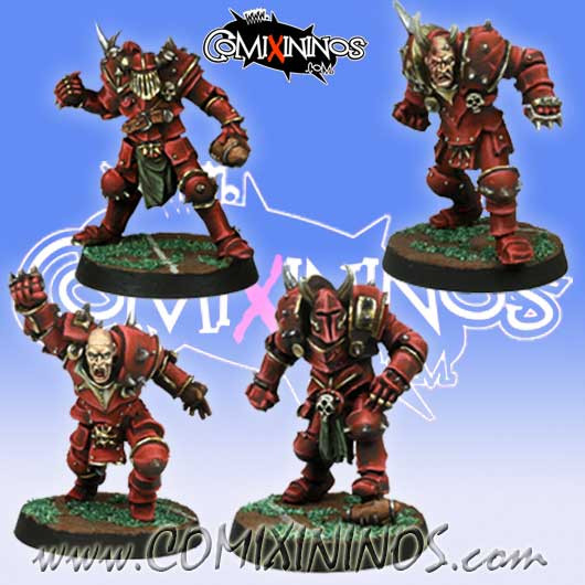 Evil - Set 4 Evil Warriors - Meiko Miniatures