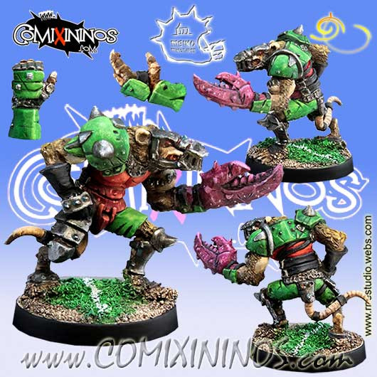 Ratmen - Klark Smash Star Player with Claws - Meiko Miniatures