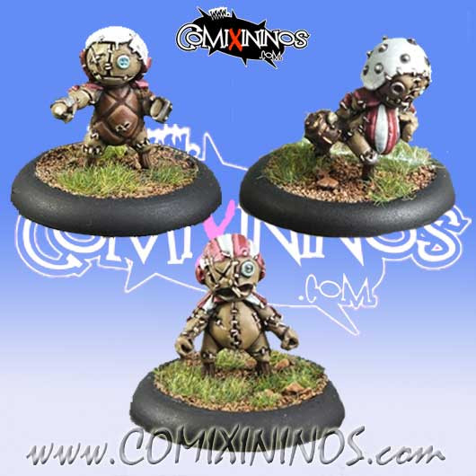 Halflings - Puppet Set of 3 Linemen  - Meiko Miniatures