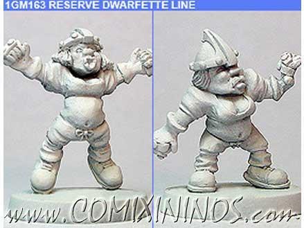 Dwarves - Dwarfette Linewomen nº 2 Set of 2 – Shadowforge