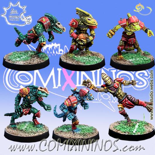 Lizardmen - Set of 6 Baby Lizards - Meiko Miniatures