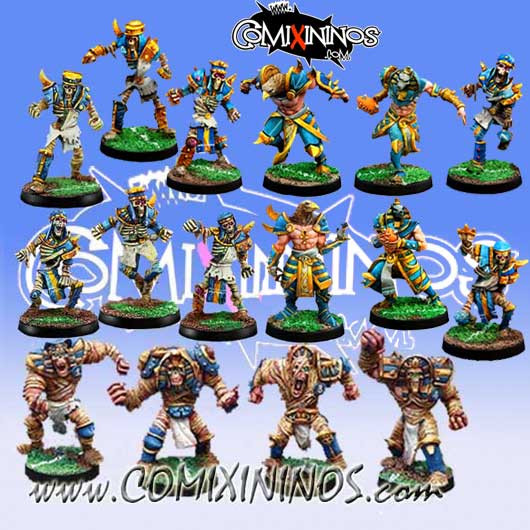 Egyptian Tomb Kings - Mythology Team of 16 Players - Willy Miniatures